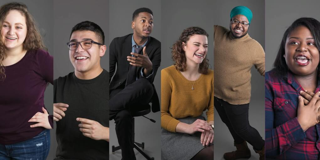 Portraits of all of the students featured in the article